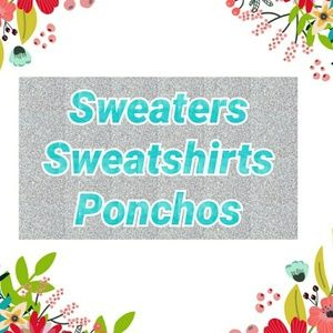 MAKE AN OFFER SWEATERS, CARDIGANS, PONCHOS, HOODIE